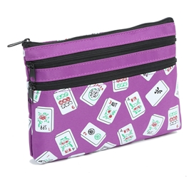 Mah Jongg Purple Color Tiles 3 Zipper Mah Jong Purse for Mahjong Card Mah Jongg Card, Mah Jong Card, Mah Jong Scorecard, Mah Jongg Scorecard, Mah Jong Purse, MJ Purse, Mah Jong Scorecard Purse, Mah Jong Case, MJ Bag, Mah Jongg Accessories, Mah Jong Gift, mahjongg, Designer Mah Jong, Mah Jong Soft Bag, mahjong