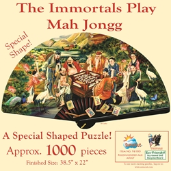 The Eight Immortals Playing Mah Jongg 1000pc Shaped Jigsaw Puzzle